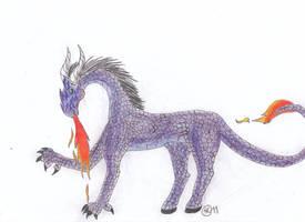 Purple Dragon by RiverPrime