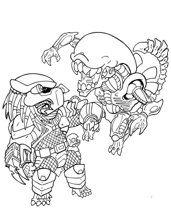 Alien Vs Predator Coloring Pages Coloring Pages
