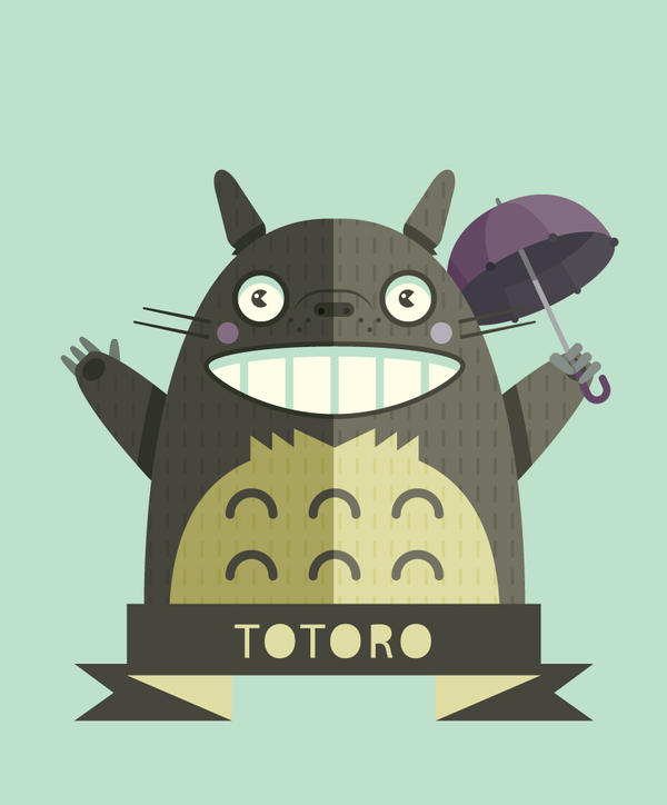 Totoro by Helbetico