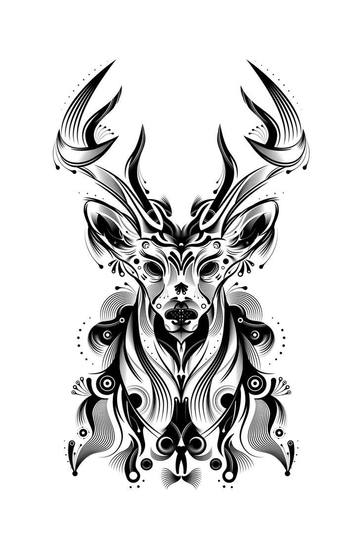deer tutorial by helbetico on deviantart