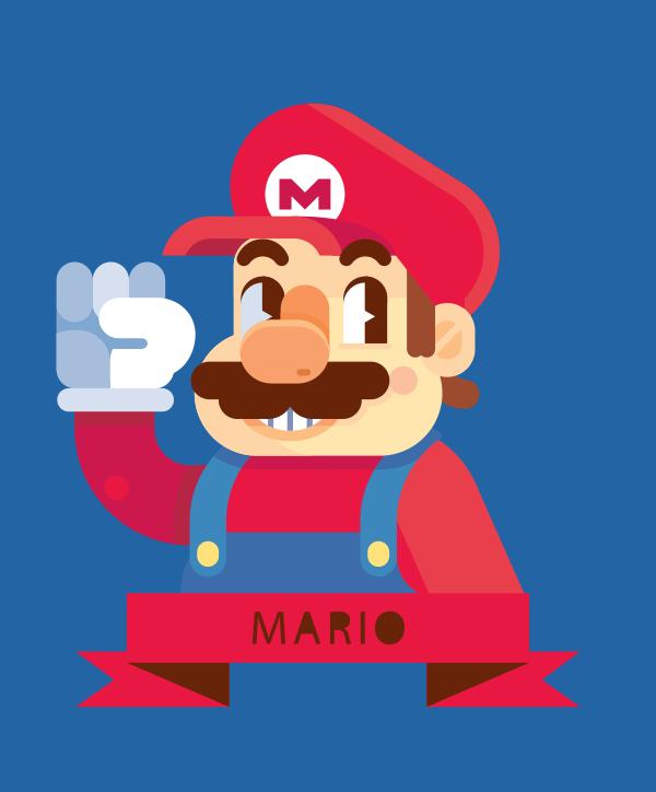 Mario by Helbetico