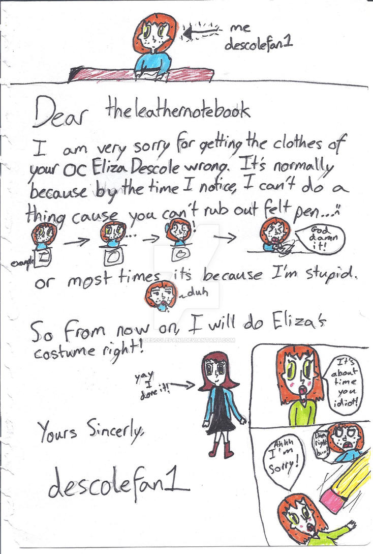 Sorry Letter By Descolefan1 On DeviantArt