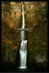 Waterfall - Multnomah Falls in Autumn