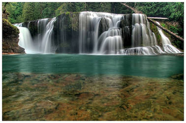Waterfall - Lower Lewis Falls from below by La-Vita-a-Bella