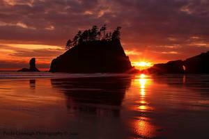 Second Beach Sunset by La-Vita-a-Bella