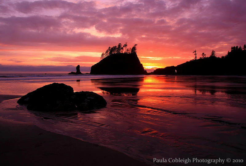 Sunset on Second Beach by La-Vita-a-Bella