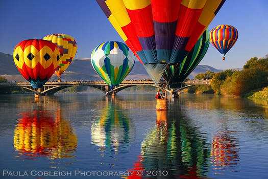 Surrounded by Hot Air Balloons