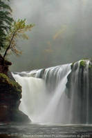 Waterfall - Lower Lewis Falls - Autumn Fog by La-Vita-a-Bella