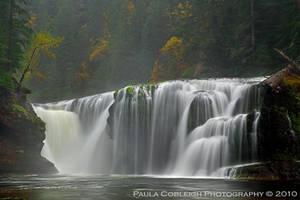 Waterfall - Lower Lewis Falls Autumn by La-Vita-a-Bella