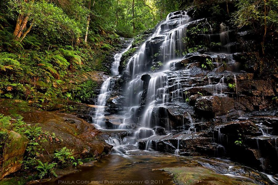 Sylvia Falls - Blue Mountains by La-Vita-a-Bella