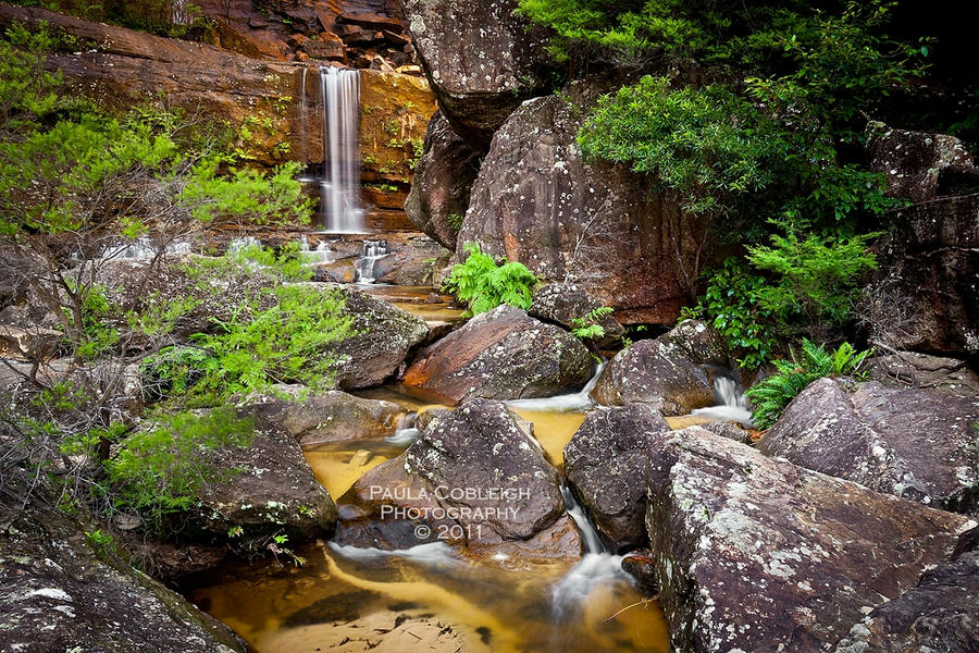 Lower Wentworth Falls by La-Vita-a-Bella
