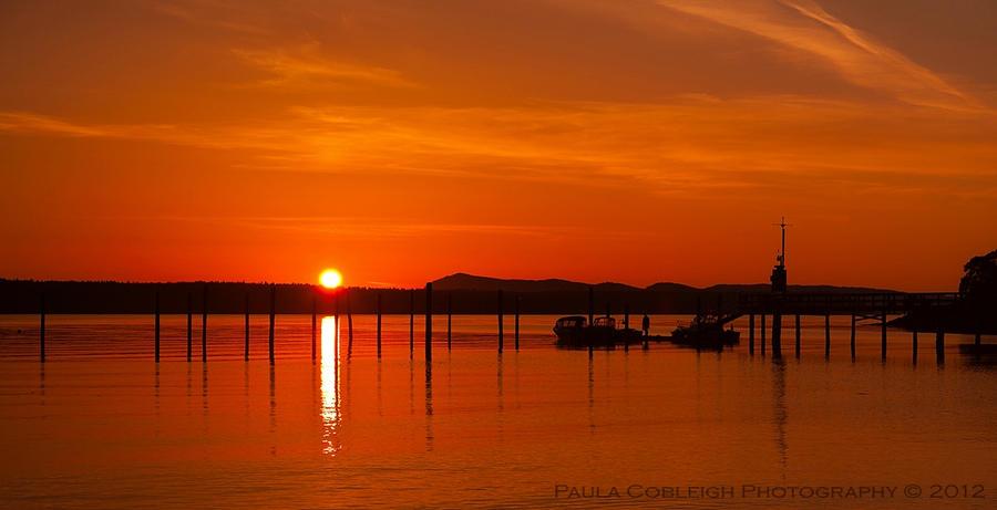 Orcas Island Sunset by La-Vita-a-Bella