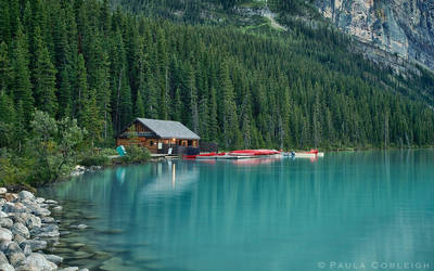 Lake Louise - the boat house