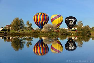Three Hot Air Balloons by La-Vita-a-Bella