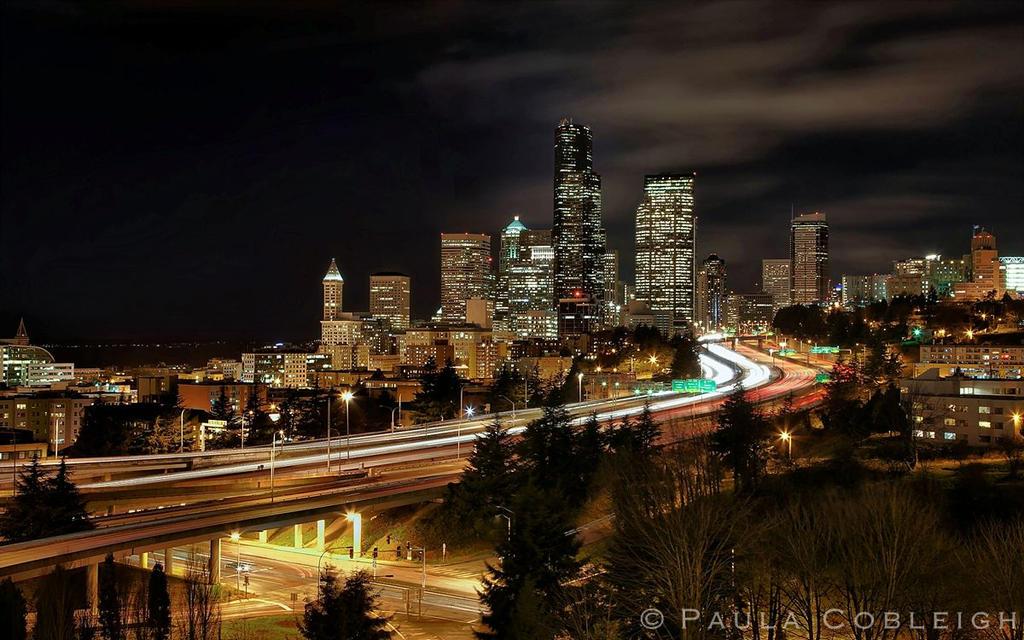 Seattle Skyline by La-Vita-a-Bella