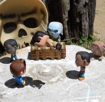 Dean and Castiel fight the undead. by MistressVampyr