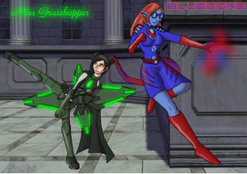 Miss Grasshopper and BlueCore by DaffydWagstaff