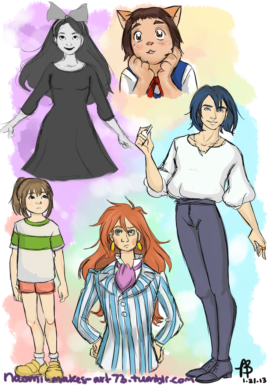 Studio Ghibli Sketches by naomi-makes-art73