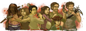 The Walking Dead by naomimakesart