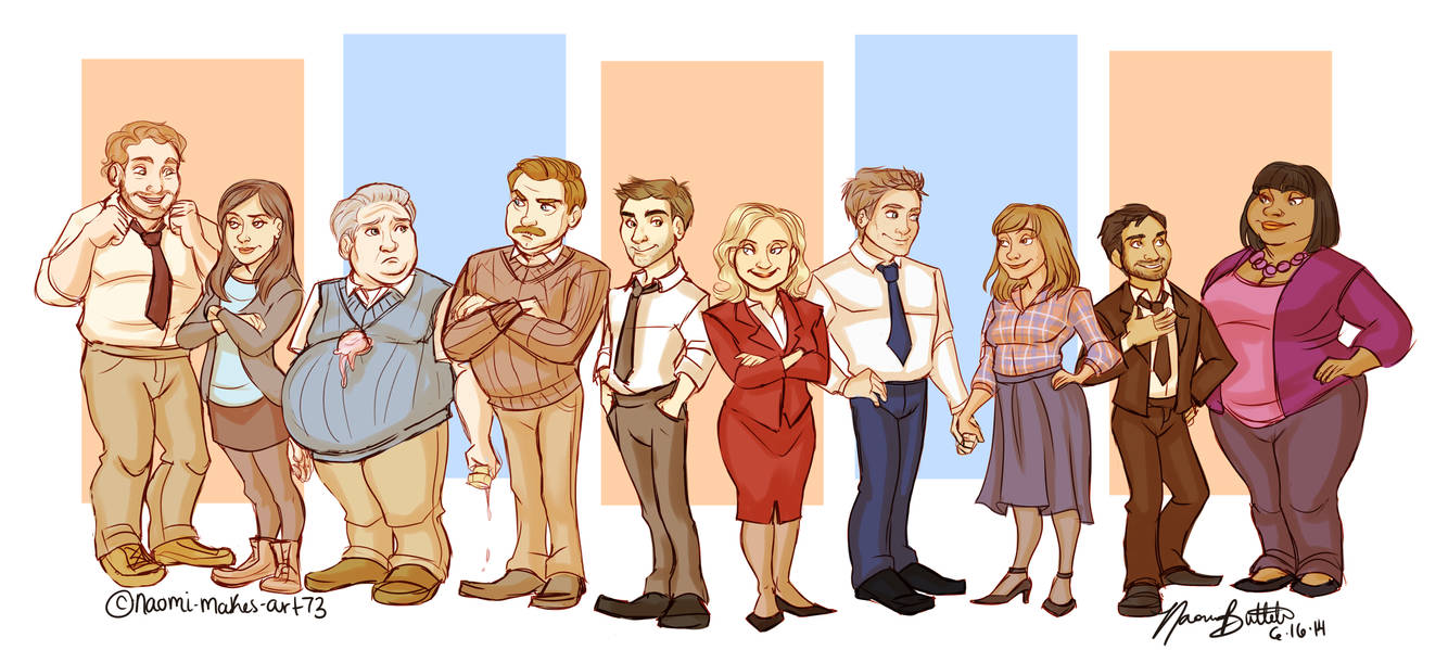 Parks And Recreation By Naomimakesart On Deviantart