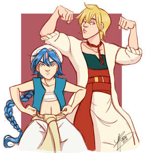 MIGHTY AND POWERFUL DWEEBS--Aladdin and Alibaba