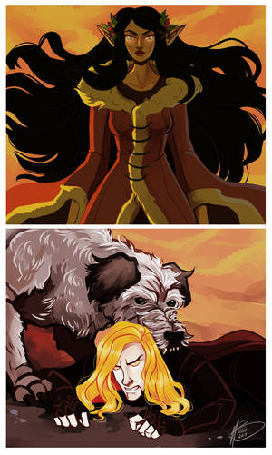 Sauron Defeated by naomimakesart