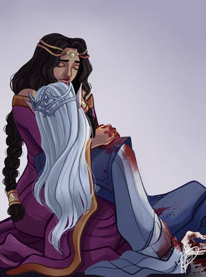The Death Of Thingol by naomimakesart