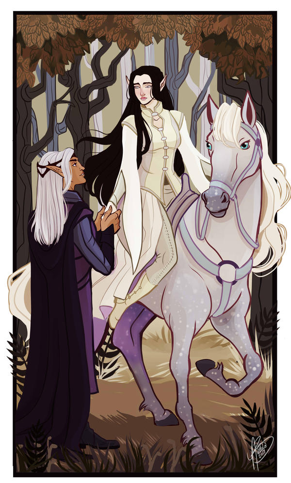 Aredhel and Eol by naomimakesart