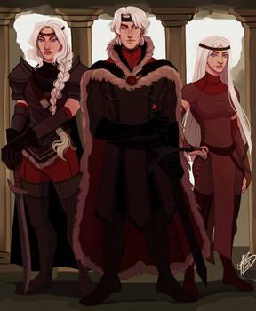 Aegon, Visenya and Rhaenys