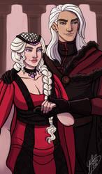 Daemon And Rhaenyra by naomimakesart