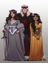 The Lost Emperor: Rhaegar, Elia and Lyanna by naomimakesart