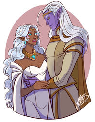 Lotor and Allura by naomimakesart