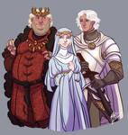 Aegon IV, Naerys and Aemon Targaryen