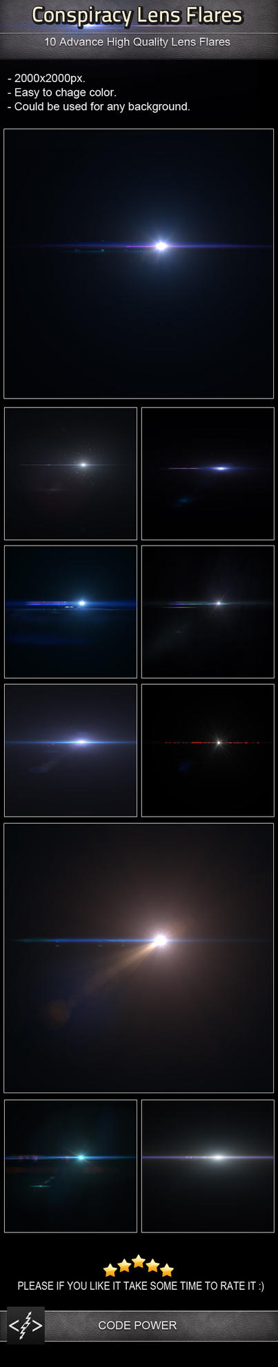 Conspiracy Lens Flares by khaledzz9