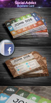 Social Addict - Business Card