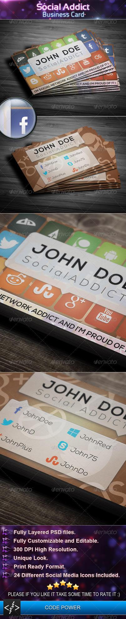 Social Addict - Business Card by khaledzz9