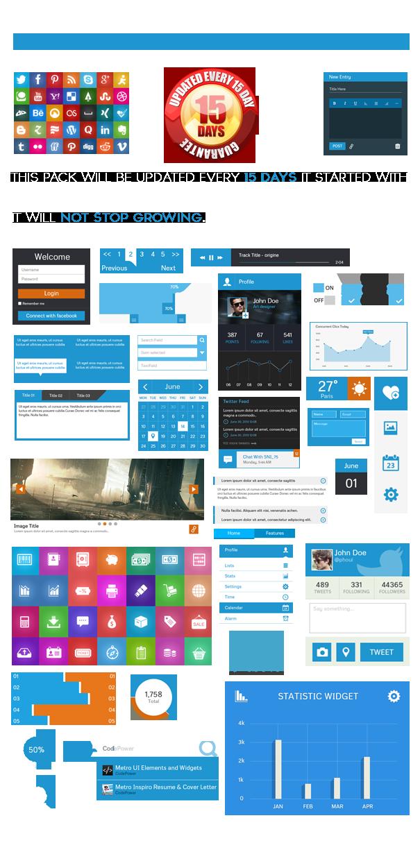 Metro UI Elements and Widgets
