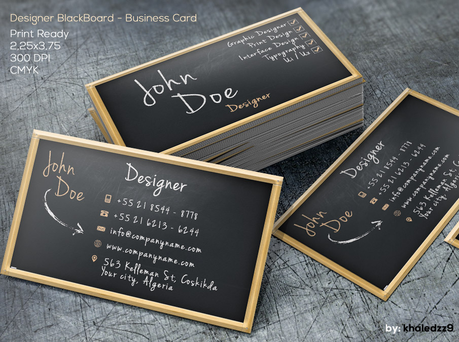 Designer BlackBoard Business Card