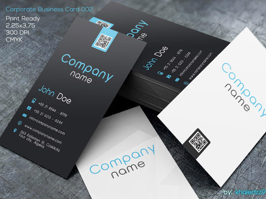 Corporate Business Card 002 by khaledzz9 on DeviantArt