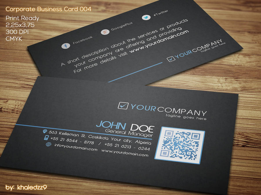 Corporate Business Card 004 by khaledzz9 on DeviantArt