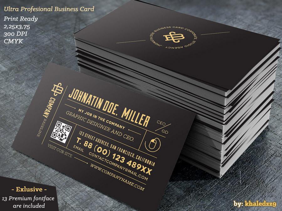 Ultra Profesional Business Card by khaledzz9 on DeviantArt