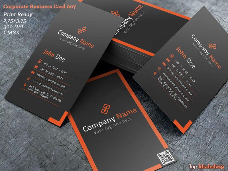 Corporate Business Card 007 by khaledzz9