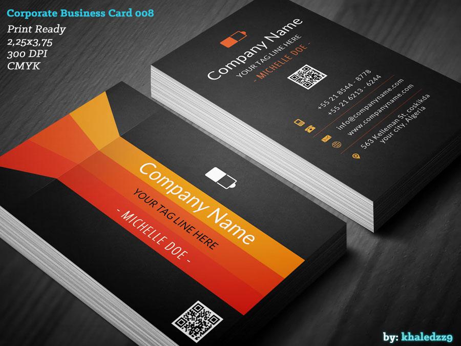 Corporate Business Card 008 by khaledzz9