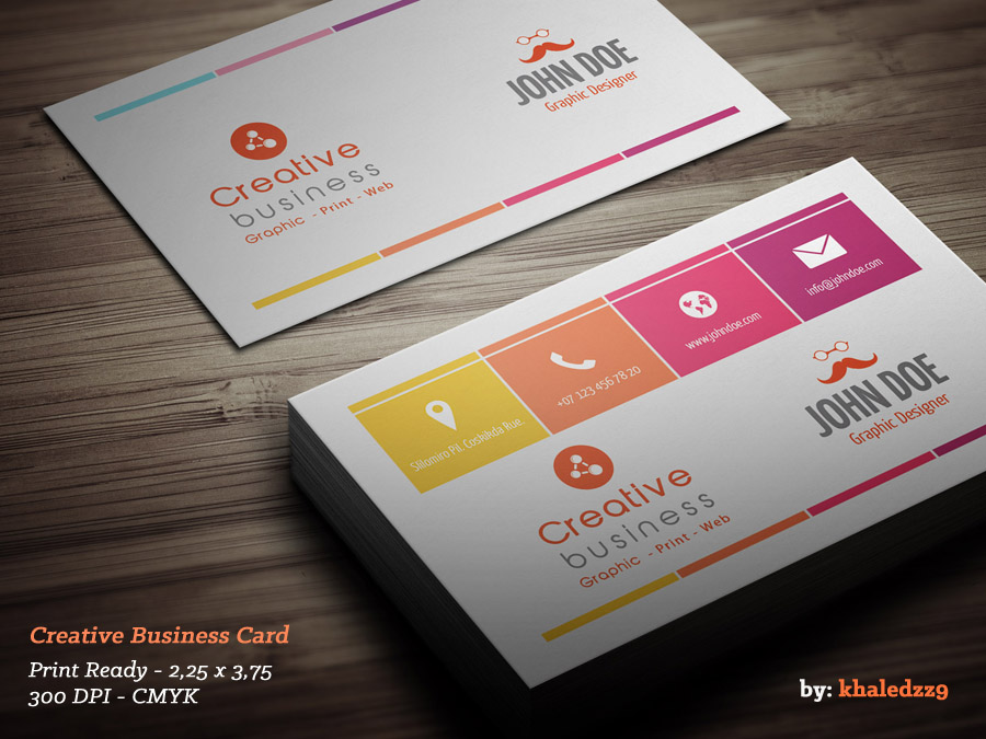 Creative Business Card by khaledzz9 on DeviantArt