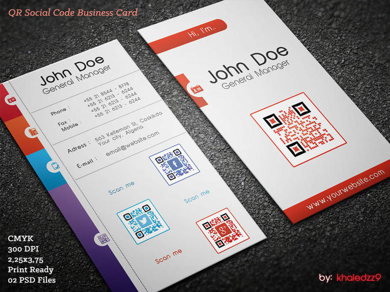 QR Social Code Business Card by khaledzz9 on DeviantArt