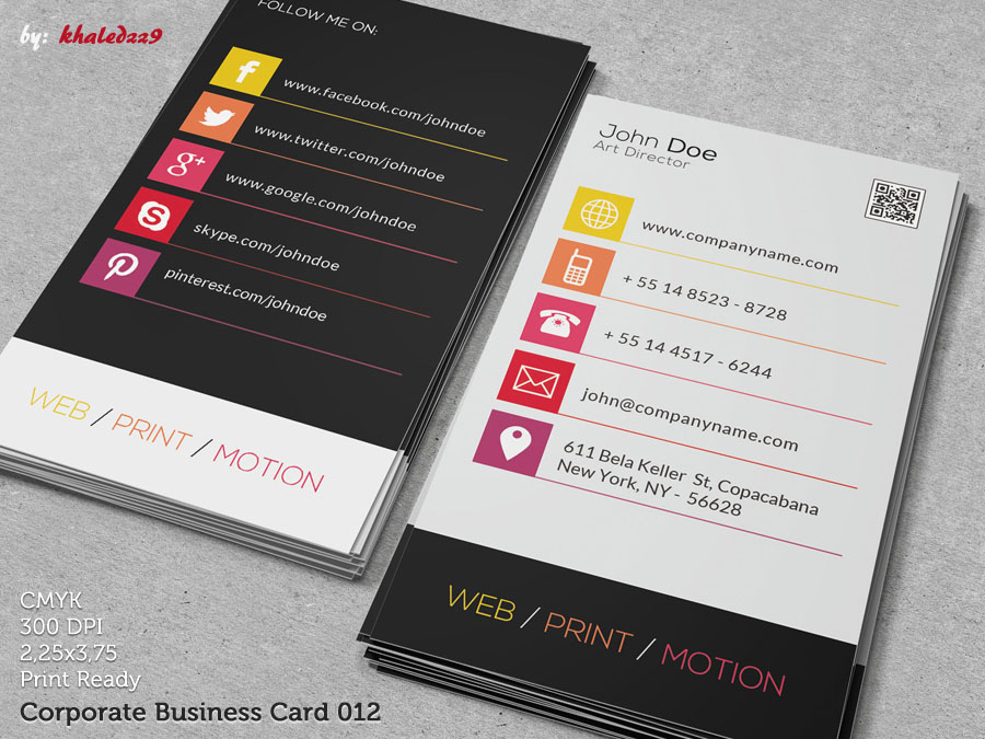 Corporate Business Card 012 by khaledzz9 on DeviantArt