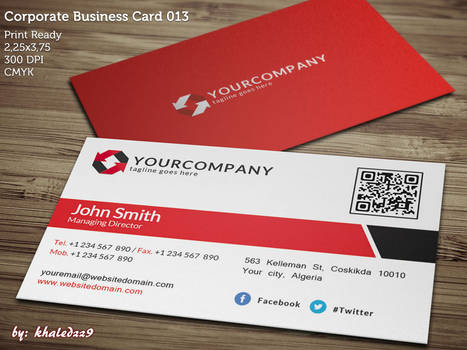 Corporate Business Card 013