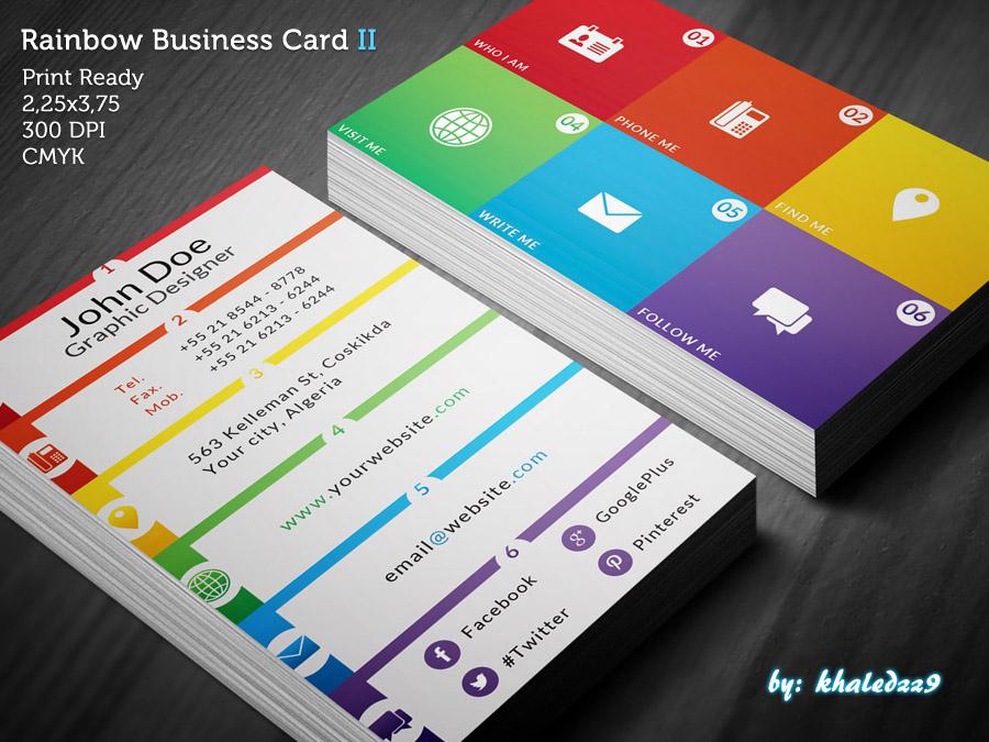 Rainbow Business Card II by khaledzz9