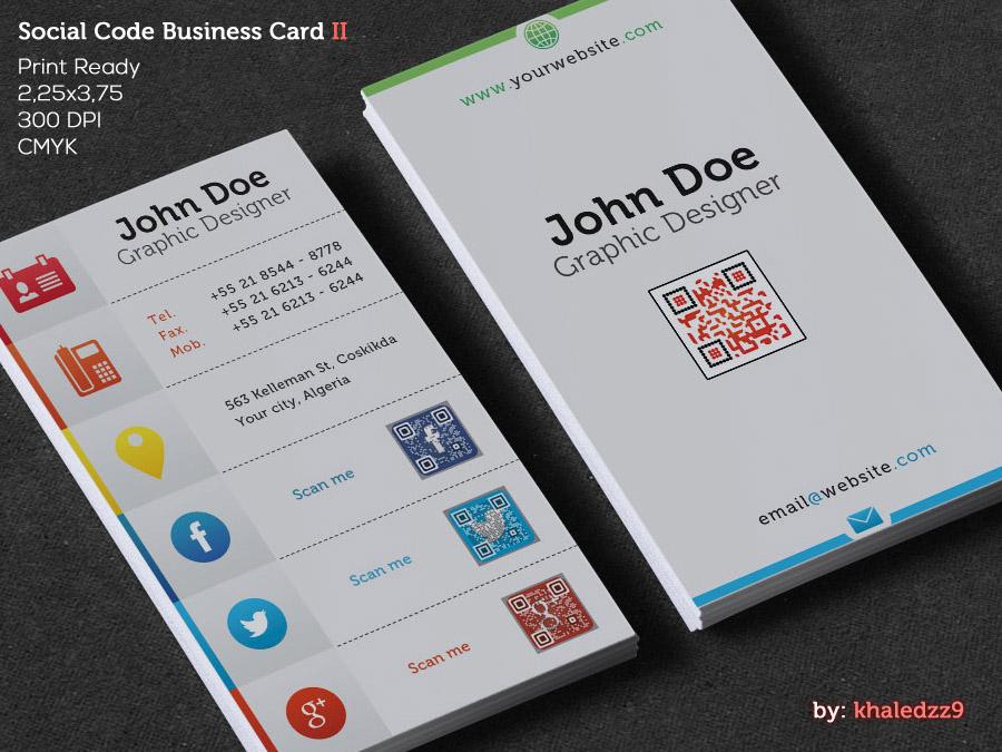 Social Code Business Card II by khaledzz9