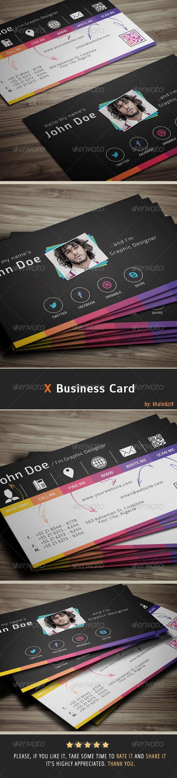 X Business Card by khaledzz9